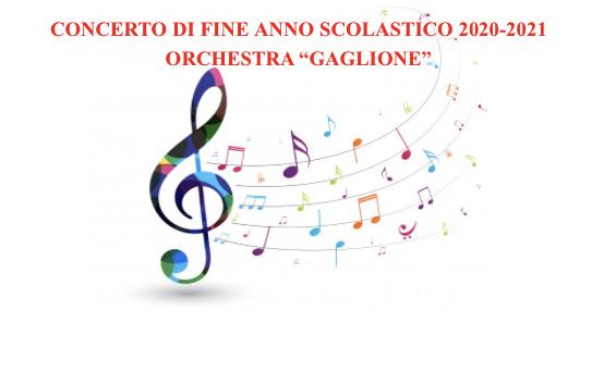 Concerto di fine anno scolastico 2020 - 2021